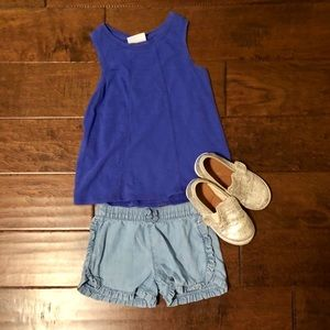 Carter's Bottoms - Carter's Ruffled Chambray Shorts. Size 4T.